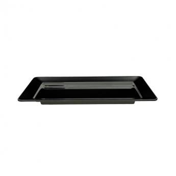 Vassoio rettangolare melamina nero 71x41