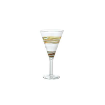 Bicchiere liquore vetro borosilicato dec.1