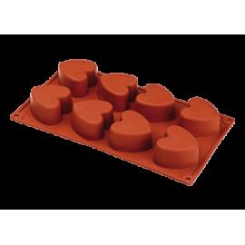 Stampo silicone 6 o 8 cuori