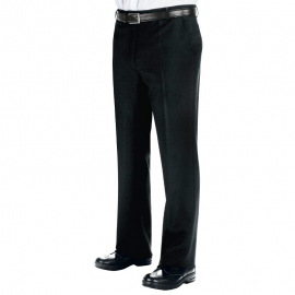 Pantalone uomo da sala nero senza pinces