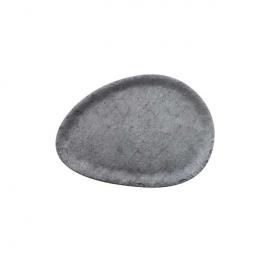 Vassoio ovale melamina effetto cemento 34,8x24,9