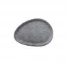 Vassoio ovale malamina effetto cemento
