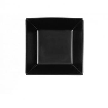 Piatto quadro nero 18x18