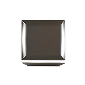 Piatto quadro marrone 18x18