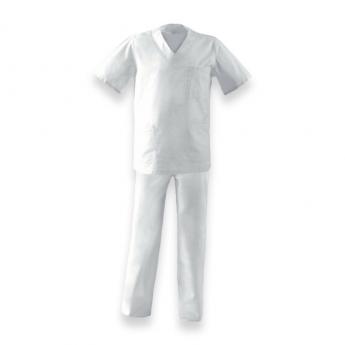 Completo ospedaliero bianco mezza manica
