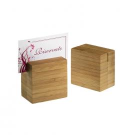 Porta numero da tavolo in bamboo